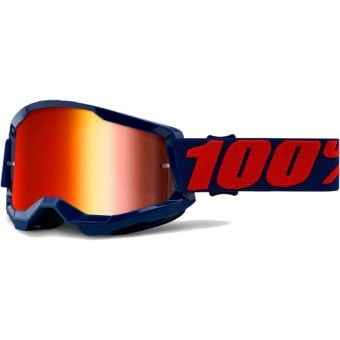 100% Strata 2 MTB Goggles Masego/Mirror Red Lens