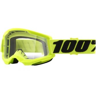 100% Strata 2 Goggles Yellow (Clear Lens)