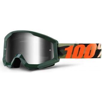 100% Strata Goggles Huntsitan (Silver Mirror Lens)