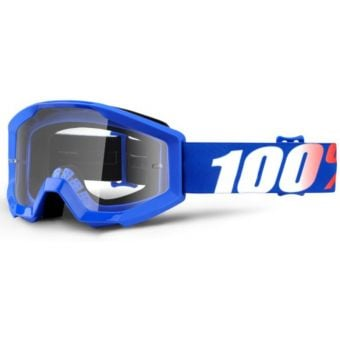100% Strata Jr Youth Goggles Nation (Clear Lens)