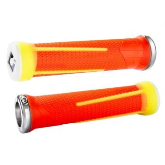 ODI Aaron Gwin AG-1 Signature Lock-on Grips Orange/Yellow
