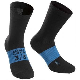 Assos Assosoires Winter Socks Black/Blue 2020