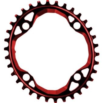 absoluteBLACK Oval 104BCD Narrow Wide Chainring Red