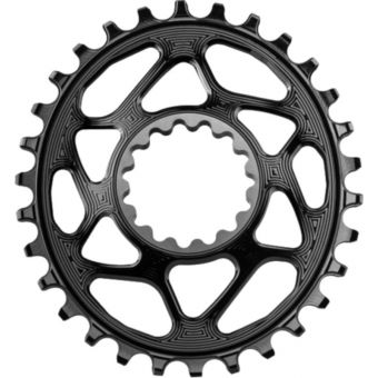 absoluteBLACK Narrow Wide Oval E13 Direct Mount Chainring Black