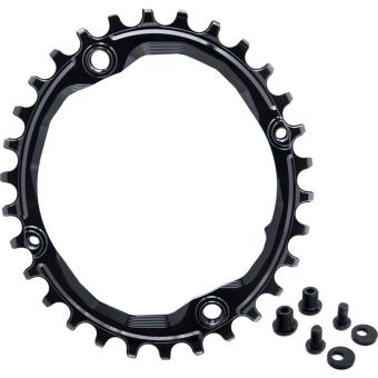absoluteBLACK Oval 104BCD N/W 30T Traction Chainring Black