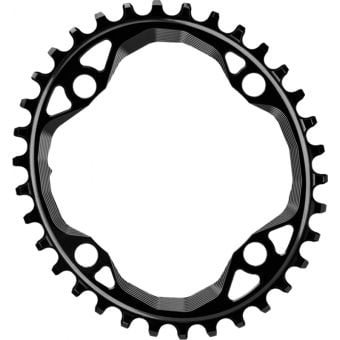 absoluteBLACK Oval 104BCD 34T Traction Chainring Black