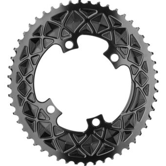 absoluteBLACK Oval 110BCD 4B 46t 2x Chainring Black