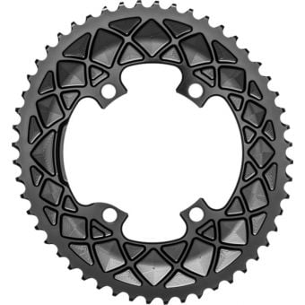 absoluteBLACK Oval 110BCD 4B 52t 2x Chainring Black