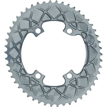 absoluteBLACK Oval 110BCD 4Bolt 50t Road Chainring Grey