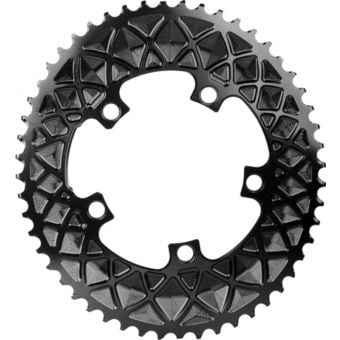 absoluteBLACK Premium Oval Road 110BCD 5B 50t 2x Chainring Black
