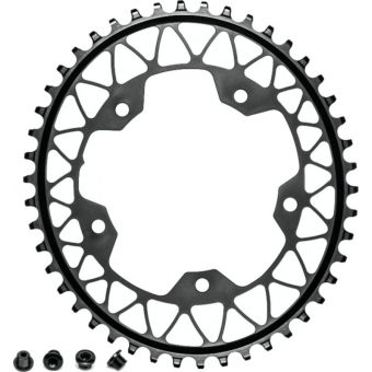 absoluteBLACK Oval 110BCD 46t 5B Chainring Black