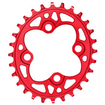 absoluteBLACK Oval 64BD 26T N/W Chainring Red