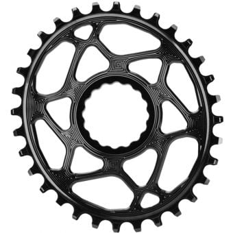 absoluteBLACK Oval Cinch D/M 34T Traction Chainring Black