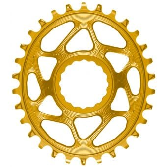 absoluteBLACK Oval RaceFace Cinch DM Chainring Gold