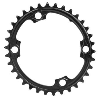 absoluteBLACK Oval Road 110BCD 4B 34T 2x Inner Traction Chainring Black