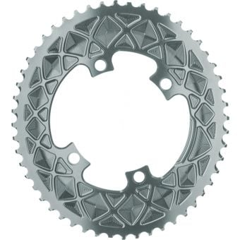 absoluteBLACK Oval Road 110BCD 4B 52T 2X Outer Traction Chainring Grey