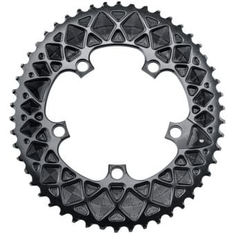 absoluteBLACK Oval Road 110BCD 5B 52T 2x Outer Traction Chainring Black