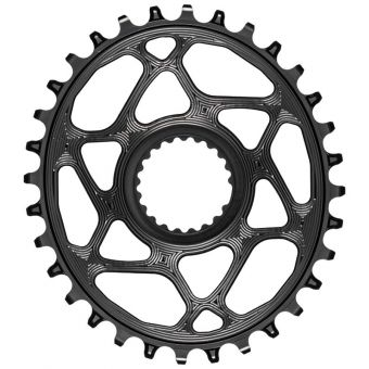 absoluteBLACK Oval Shimano XTR M9100 Chainring Black