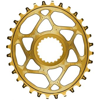 absoluteBLACK Oval Shimano XTR M9100 Chainring Gold