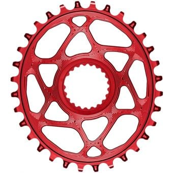 absoluteBLACK Oval Shimano XTR M9100 Chainring Red
