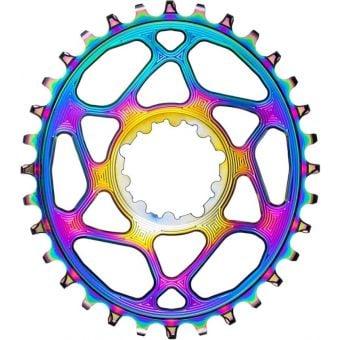absoluteBLACK Oval SRAM BOOST DM Narrow Wide Chainring PVD Rainbow