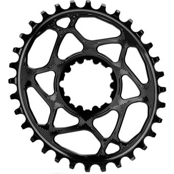 absoluteBLACK Oval Sram GXP D/M 32T Traction Chainring Black