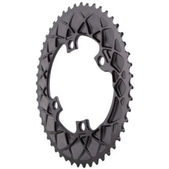 absoluteBLACK Premium Oval 110BCD 4B Outer 2x Chainring Grey
