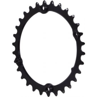 absoluteBLACK Premium Sub-Compact Oval 110BCD 4B Inner 2x Chainring Black