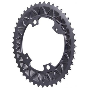absoluteBLACK Premium Sub-Compact Oval 110BCD 4B Outer 2x Chainring Grey