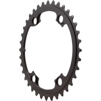 absoluteBLACK Premium Round Road 110BCD 4B 34t 2x Chainring Black