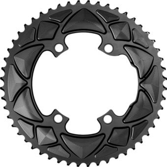 absoluteBLACK Premium Round Road 110BCD 4B 53t 2x Chainring Black