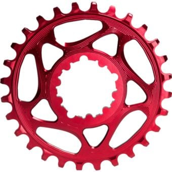 absoluteBLACK Round Direct Mount SRAM GXP Narrow Wide Chainring Red