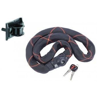 Abus Ivy 9100 140cm Bike/Home Chain Lock with WA50 Anchor Black/Red