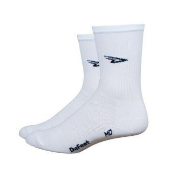 """DeFeet D-Logo 5"""" Aireator Socks White"""