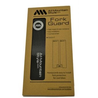 All Mountain Style Honeycomb MTB Fork Guard Black/Silver