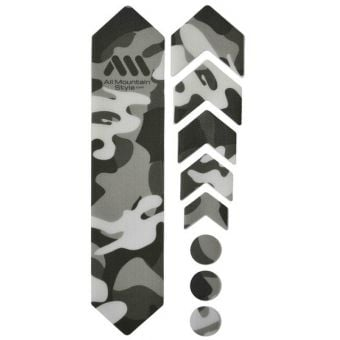 All Mountain Style Honeycomb MTB Frame Guard Clear/Camo