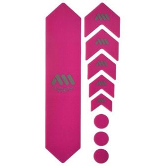 All Mountain Style Honeycomb MTB Frame Guard Magenta/Silver