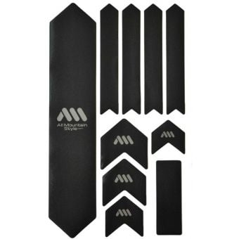 All Mountain Style Honeycomb MTB Frame Guard X-Large Black/Silver