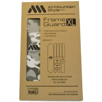All Mountain Style Honeycomb MTB Frame Guard X-Large Clear/Camo