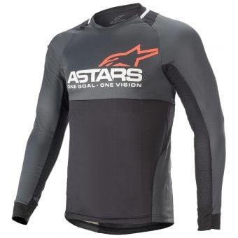 Alpinestars Drop 8.0 LS Jersey Black/Coral 2022