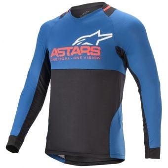 Alpinestars Drop 8.0 LS Jersey Mid Blue/Bright Red 2022