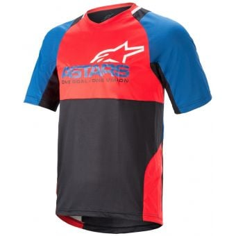 Alpinestars Drop 8.0 SS Jersey Mid Blue/Bright Red 2022