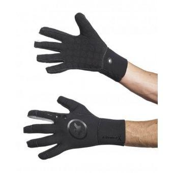 Assos Evo7 Rain Gloves Black Volkanga