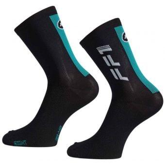 Assos FF1 Road Socks Unisex Black/Blue