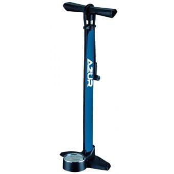 Azur Deluxe 180psi 12-bar PV/SV Floor Pump Blue/Black