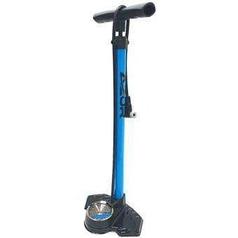 Azur Dual Scale 160psi Analog Gauge Floor Pump Blue/Black