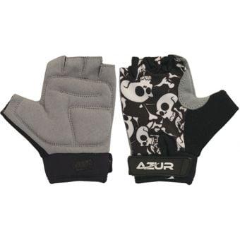 Azur K10 Kids Gloves Grey Skulls