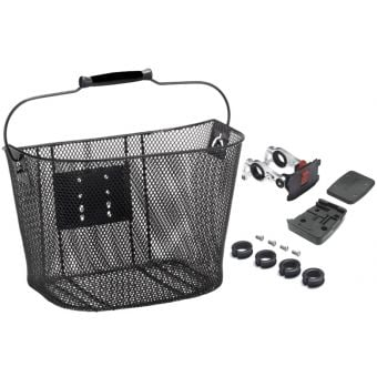 Azur Mesh Quick Release Front Shopper Basket Black