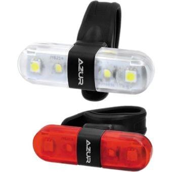 Azur Nano 60/30 lm USB Front/Rear Light Set Black