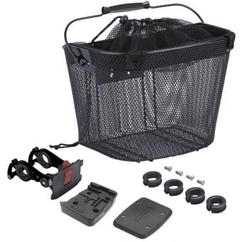Azur Quick Release Shopper e-Bike Basket Black